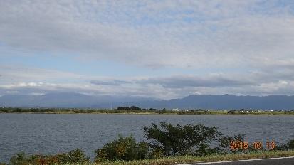 阿賀野川の土手からの眺め