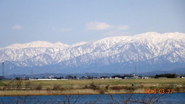 大江山から見た五頭連峰
