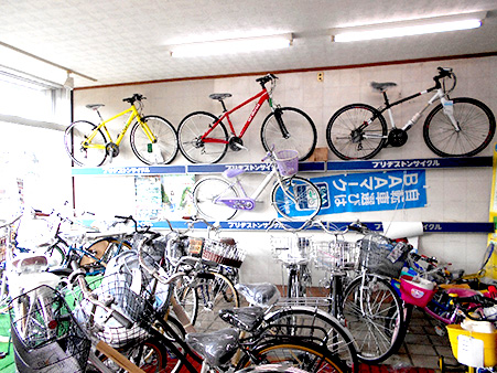 店内商品(自転車)の陳列