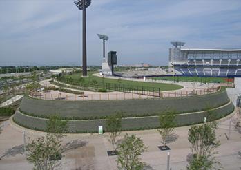 当社施工 県立野球場レフト側広場